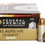 Federal Premium Law Enforcement 45 ACP 230gr +P HST FEDP45HST1