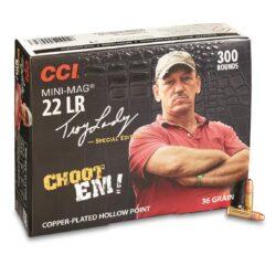 CCI Mini Mag .22LR 36 Grain CHOOT'EM Copper Plated Hollow Point – Choot'em Pack 300 Rounds