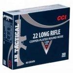 CCI AR Tactical 22LR 40 Gr 1200 FPS CPRN – 300 Rounds