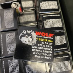 Wolf Performance 7.62x39mm Ammo 123GR Hollow Point Steel Case FREE SHIPPING FOR CASES