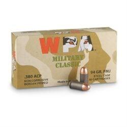 Wolf Ammo Military Classic .380 ACP 94 Grain FMJ Steel Cased