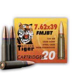 Golden Tiger 7.62×39 124 Grain FMJ Steel Case