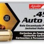 Aguila 45 Auto 185 Grain JHP Hollow Point 1E454321 – 50 Round Box