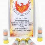 Phoenix Rising 12 Gauge 2 3/4″ Annihilator Half Metal Jacket Soft Point 485 Grain Slug