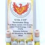 Phoenix Rising 12 Gauge 2 3/4″ Terminator Full Metal Jacketed 515 Grain Slug