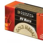 Federal Gold Medal HV Match 22 Long Rifle Ammo 40 Grain Lead Round Nose – 50 Round Box