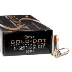 Speer Gold Dot LE Duty 40 S&W 155 Grain GDHP JHP – 50 Round Box