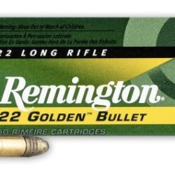 Remington Golden Bullet High Velocity 22LR Plated Round Nose – 50 Rounds per Box