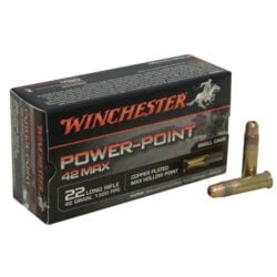 Winchester 42 Max 22 Long Rifle 42 Grain Power-Point Max Hollow Point – 50 Round Box