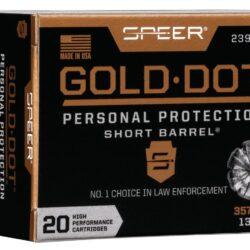 Speer Gold Dot 357 Magnum 135 Grain Hollow Point Short Barrel 23917 – 20 Rounds per Box