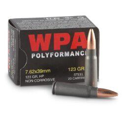 Wolf WPA Polyformance 7.62×39 HP 123 Grain – 20 Round Box