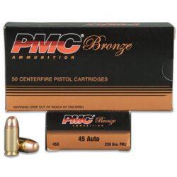 PMC Bronze 45 ACP 230 Grain FMJ – 50 Round Box