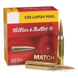 Sellier & Bellot Match .338 Lapua Magnum BTHP 250 Grain – 10 Round Box