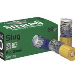 Sterling 12 Gauge 2-3/4″ 1-5/32oz Big Game Series Slug (10 Round Boxes)