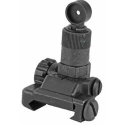 Knight's Armament KAC Folding Micro Rear Sight, 200-600 Meter Adj. PN:25650