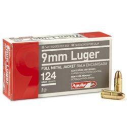 Aguila 9mm Luger Ammo 124 Grain Brass FMJ