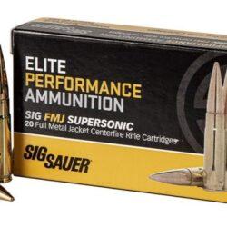 Sig Sauer Elite Supersonic 300 Blackout 125 Grain FMJ E300B120 – 20 Round Box