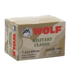 Wolf Military Classic 7.62x39mm Ammo 124 Gr FMJ Steel Case