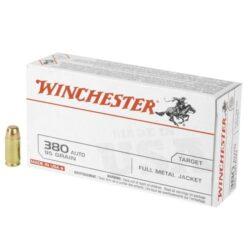 Winchester USA Target .380 ACP 95 Grain FMJ – 50 Round Box